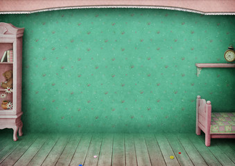 Vintage pastel background children's room