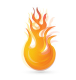 Flames and fire logo abstract design vector