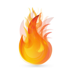Flames and fire logo vector