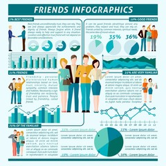 Friends Infographics Set