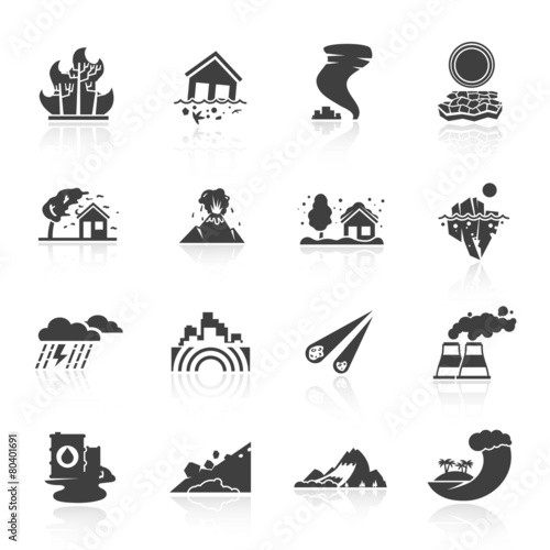 Natural Disaster Icons - 80401691