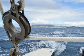 catamaran pulley