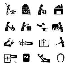 Blacksmith Icons Black