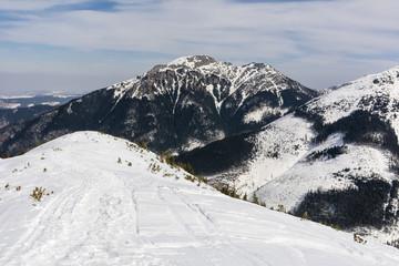 Kominiarski Wierch beautiful mountain in winter conditions