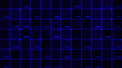 data cell abstract blue 4k