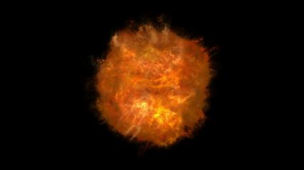 abstract fire ball 4k