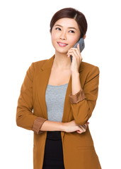 Asian businesswoman chat on mobile phone