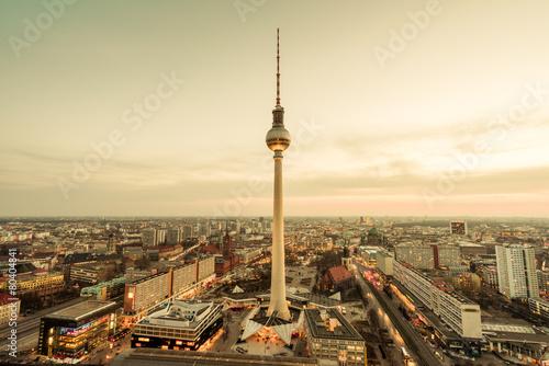 Foto op Canvas Berlijn Fernsehturm Berlin
