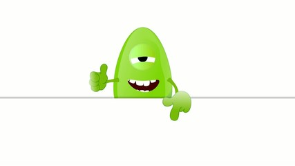 Monster Fred advertising space placeholder funny
