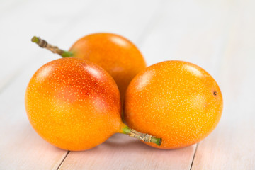 Sweet granadilla or grenadia (lat. Passiflora ligularis) fruit