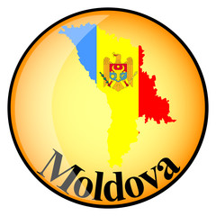 orange button with the image maps of Moldova