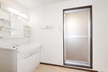 日本のマンション アパート 洗面所 Apartment washroom of Japan