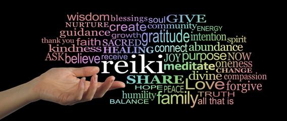 Sharing Reiki Word Cloud Website Header