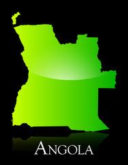 Angola green shiny map
