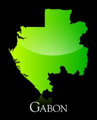 Gabon green shiny map