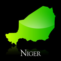 Niger green shiny map