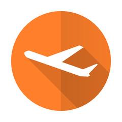 deparures orange flat icon plane sign