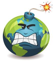 Earth Planet Warning Bomb Character