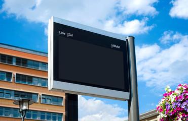 Digitale Echtzeit Fahrgastanzeige Display leer