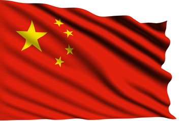 China flag with fabric structure