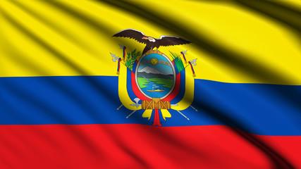 Ecuador flag with fabric structure