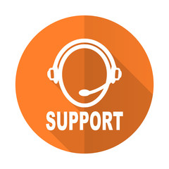 support orange flat icon