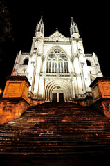 Night time the Cathedral Church of St Paul, Dunedin New Zealand