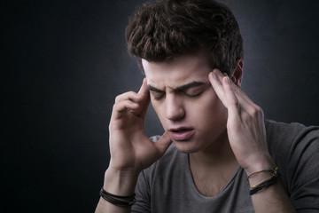 Teenager with headache
