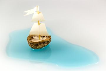 barca guscio di noce