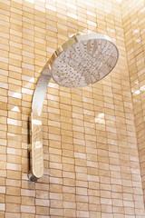 Modern shower head in a bathroom
