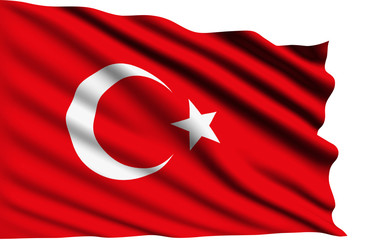 Turkey flag with fabric structure