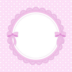 Beautiful pink background with ornaments and bows