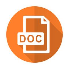 doc file orange flat icon