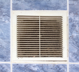 mesh grille in the wall ventilation