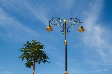 Lamp sky background