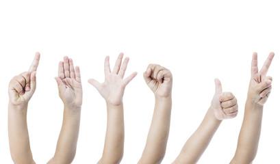 Child hand gestures