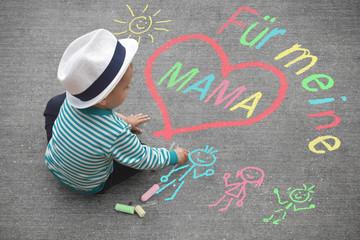 Kinderzeichnung - Für meine Mama