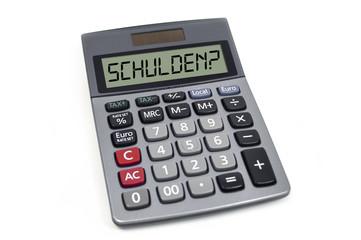 Taschenrechner mit Schulden
