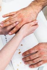 male massage hands