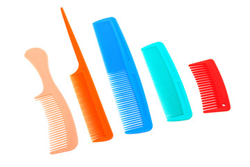 set of plastic comb