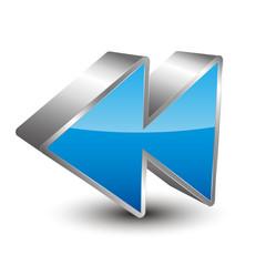 Rewind 3D Icon