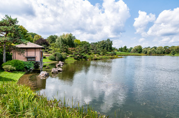 Japanese Garden area of Chicago Botanic Garden