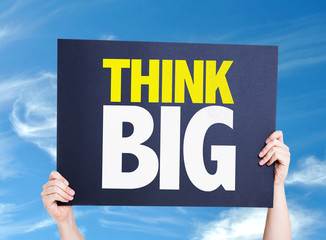 Think Big card with sky background