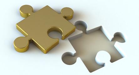 puzzelteil gold