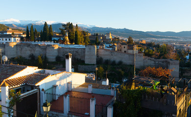Granada with Alhambra and Sierra Nevada