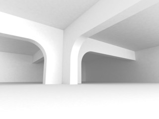 White Abstract Architecture Background With Column