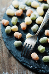 Traditional italian gnocchi on the table