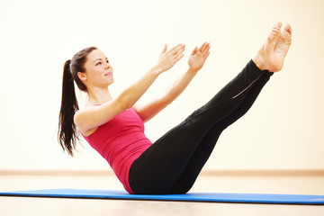 pilates stretching fitness exercises