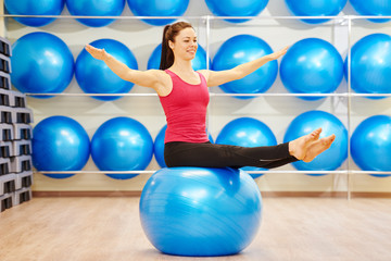 exercises with fitness ball