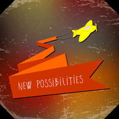 New possibilities concept image